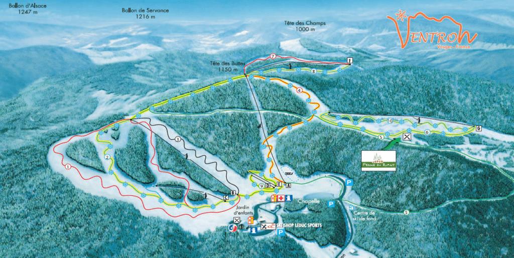 Ventron - Plan des pistes de ski