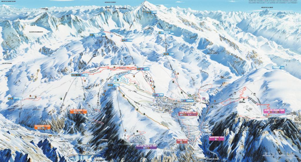 Villard Reculas - Plan des pistes de ski de fond et raquettes