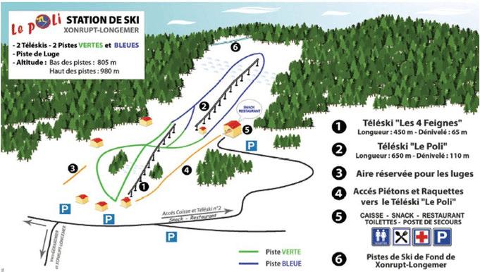 xonrupt - plan des pistes de ski