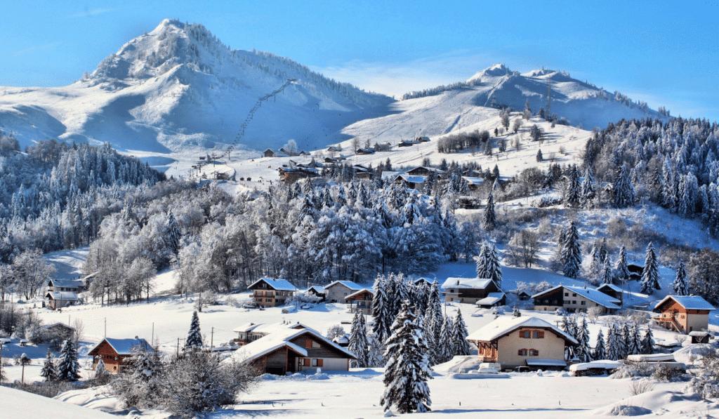 Bellevaux Hirmentaz en hiver