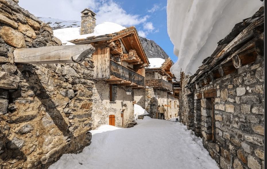 Bonneval sur Arc en hiver
