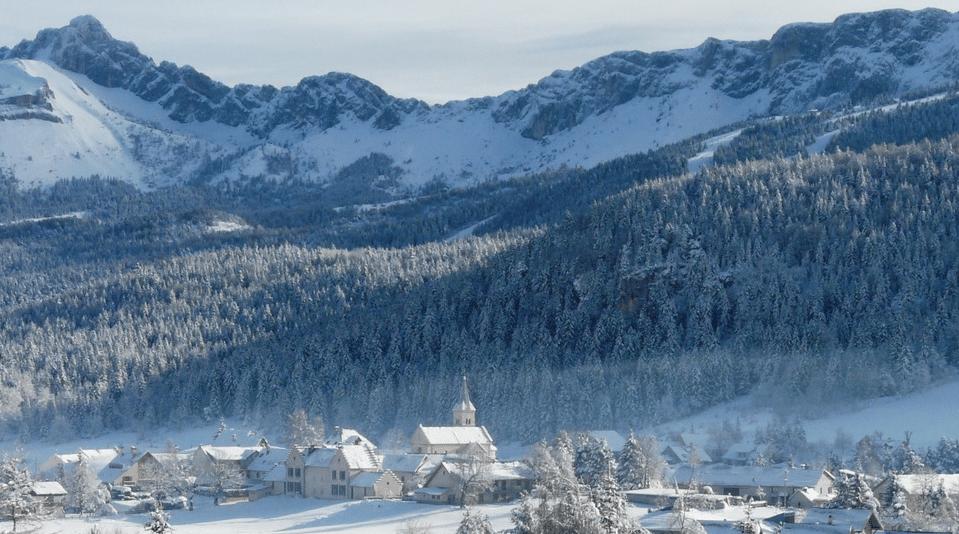 Corrençon en Vercors en hiver
