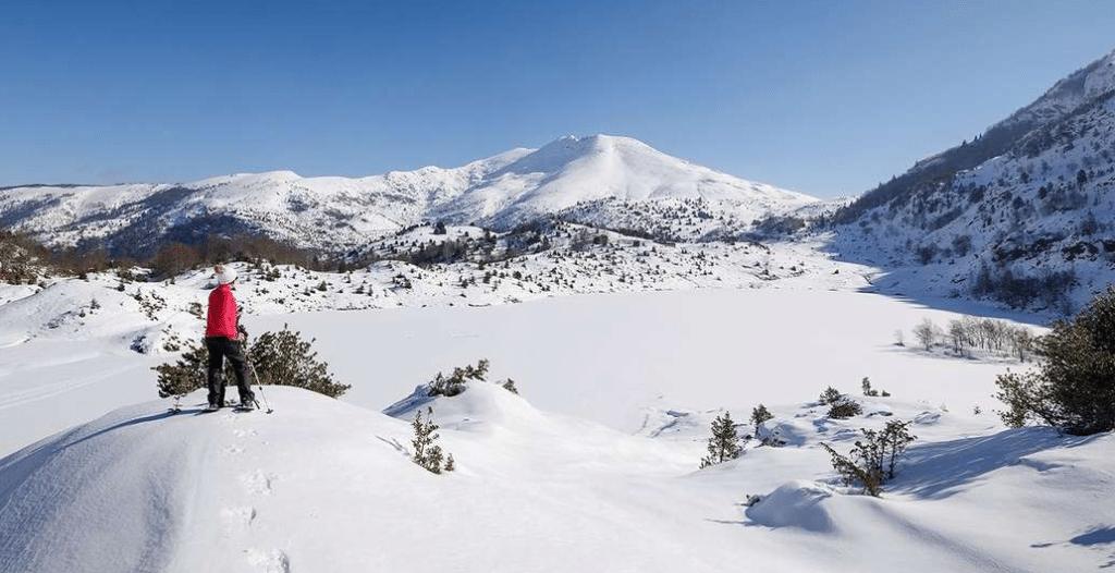 Etang de Lers en hiver