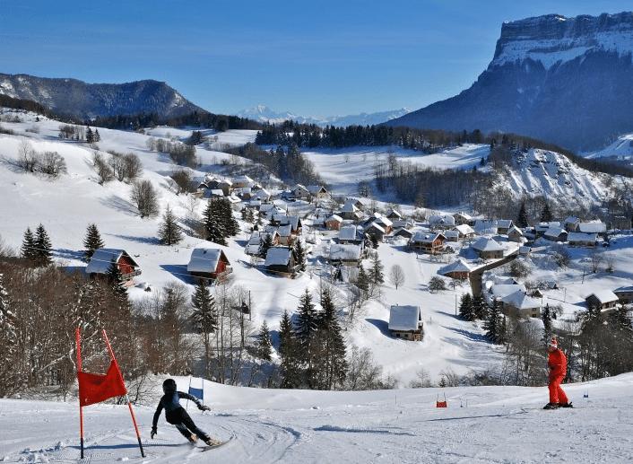 La Désert d'Entremont en hiver