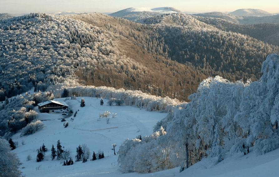 La Planche des Belles Filles en hiver
