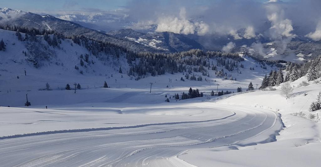 Le Collet d'Allevard en hiver