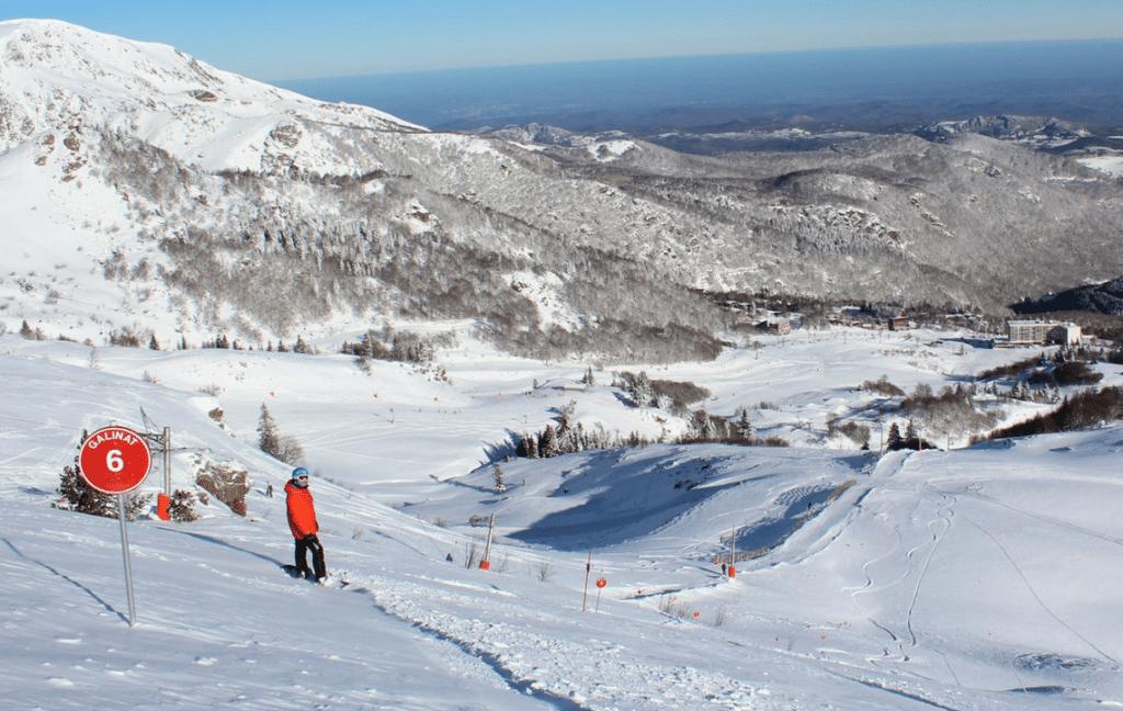 Les Monts d'Olmes en hiver