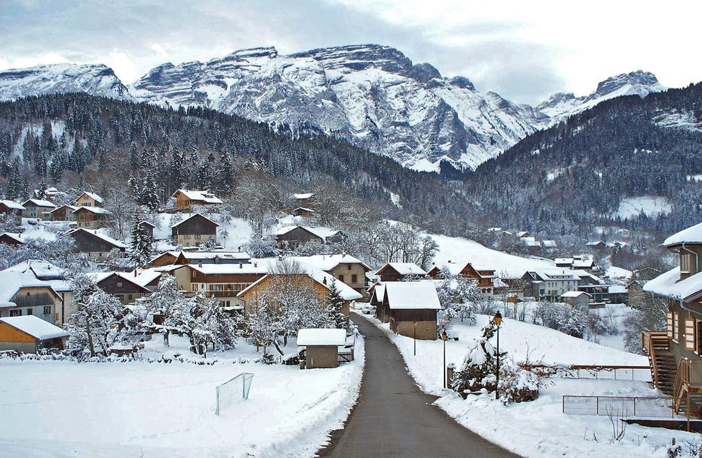 Mont Saxonnex en hiver