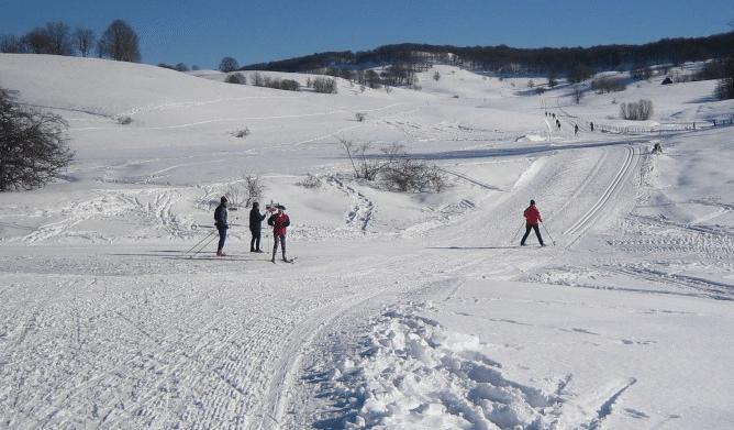 Plateau du Retord en hiver