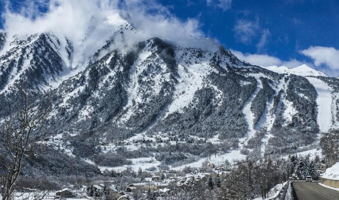 Porté Puymorens en hiver