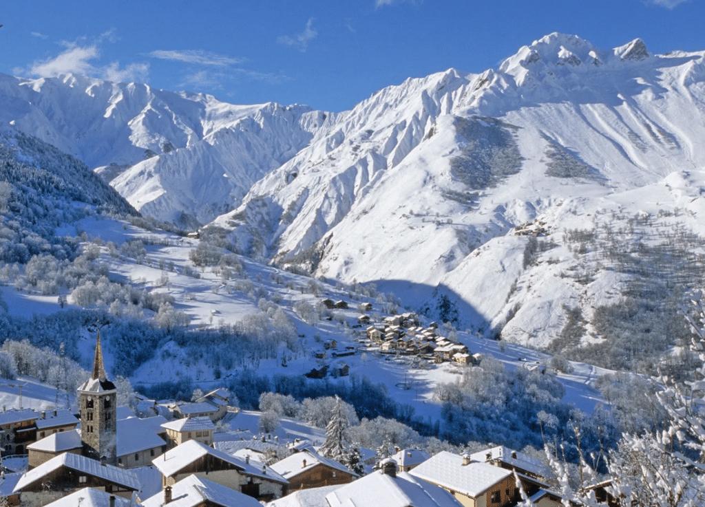 Saint Martin de Belleville en hiver (vue de l'autre versant)