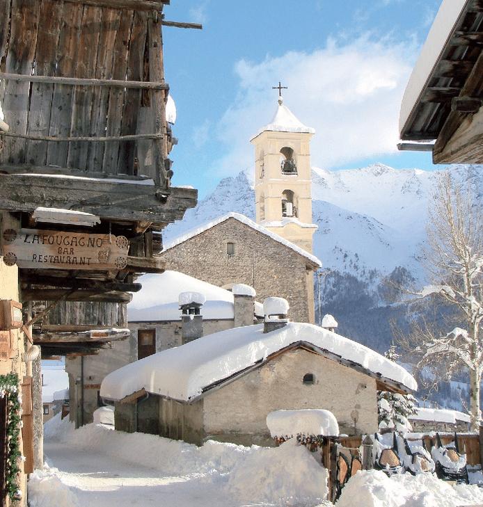 Saint Veran en hiver