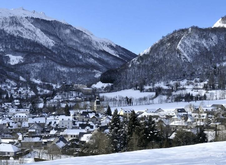 Val d'Azun (et le village d'Arrens) en hiver